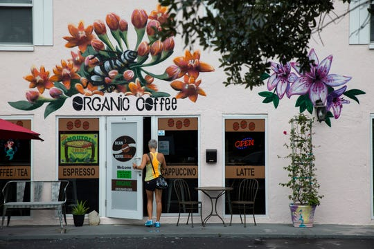 A building mural makes an appealing exterior for new businesses such as Bean to Cup, which opened this spring at 3248 Bayshore Drive in the Bayshore Arts District, East Naples.