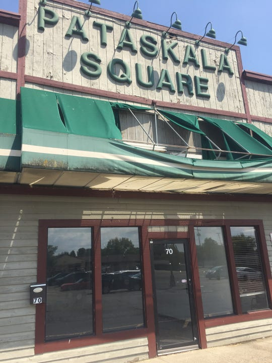 Neighboring businesses are again asking Pataskala City Council to help in the effort to improve or remove the deteriorating Pataskala Square center at Oak Meadow, facing East Broad Street. Complex owners say they are interested in redeveloping the site.