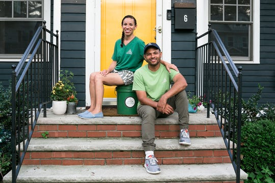 Michelle and Java Bradley of Java's Compost are expanding their food waste pickup service to include Montclair restaurants and apartments. The couple live in West Orange with their three boys.