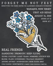 The poster for the 2019 Forget Me Not Fest in Wanaque shows the 18 bands due to perform for the Aug. 31, 2019 Alzheimer's benefit.