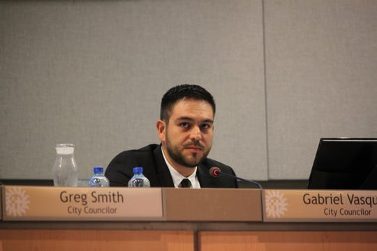 District 3 councilor Gabriel Vasquez recalled his first encounter with racist discrmination as a child during the Las Cruces City Council meeting on August 5, 2019.