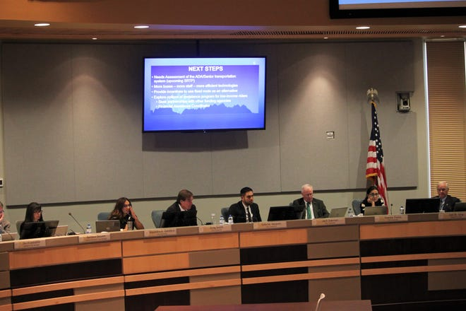 The Las Cruces City Council meets in the council chambers at City Hall on Monday, August 5, 2019.