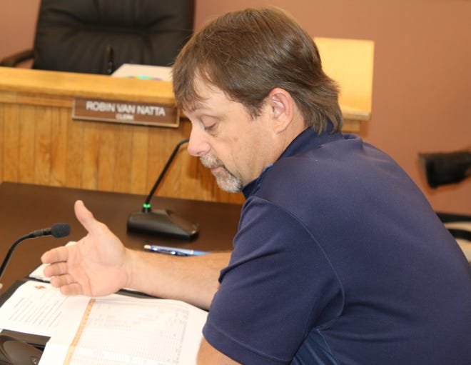 Eddy County Planner Steve McCroskey lines out the Capital Infrastructure Improvement Plan Aug. 6 before the Eddy County Board of Commissioners.