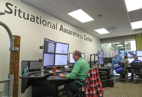 Southern California Edison's Emergency Operations Center in Irwindale, August 1, 2019.