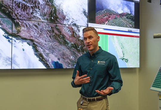 Paul Roller is the senior meterologist at Southern California Edison's Emergency Operations Center in Irwindale, August 1, 2019.