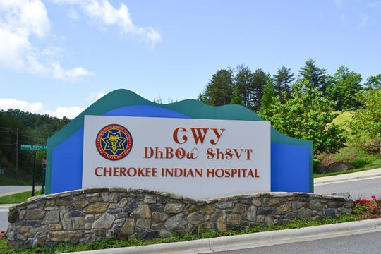 The 155,000-square-foot, 20-bed Cherokee Indian Hospital rests on a small knoll in western North Carolina. (Katja Ridderbusch for Kaiser Health News)