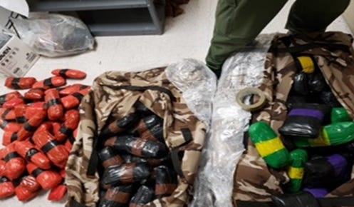 U.S. Border Patrol checkpoint seizes fentanyl, heroin, cocaine and methamphetamine in two separate events this week.
