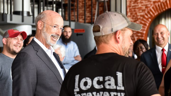 'Backbone of our commonwealth': Gov. Wolf tours downtown Hanover with community leaders