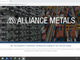 A July 31 screenshot of Alliance Metals's website claiming it owns and operates an Arizona aluminum smelter.