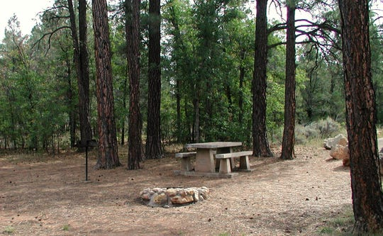 Ten X Campground is in Kaibab National Forest just south of the entrance to Grand Canyon National Park.