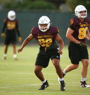 Freshman Nolan Matthews has aspirations to be ASU's next elite tight end.