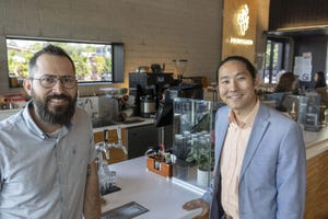 Lawrence Jarvey (left) and Dan Suh are the owners of Provision coffee bar, located at 4501 N. 32nd St. in Phoenix.