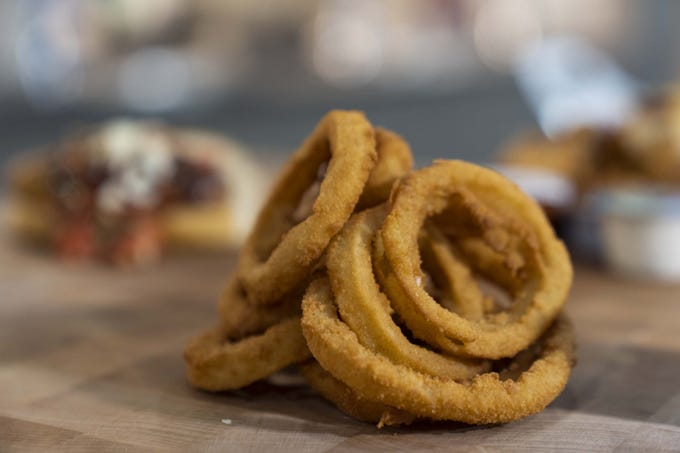 The Arizona Cardinals released their new food options, including breaded onion rings, for State Farm Stadium this season in Glendale, Arizona.