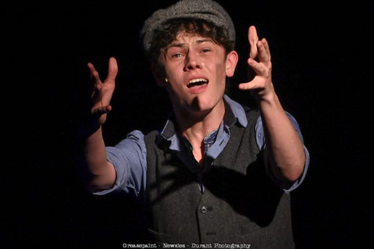 """Casey Likes in Greasepaint Youtheatre's 2019 production of """"Newsies."""""""