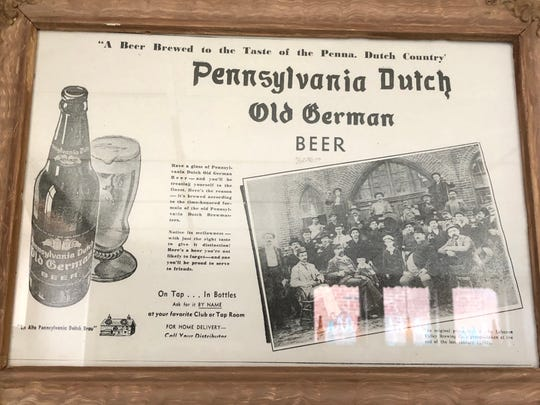 Some of the memorabilia from previous companies that were inside the historic Lebanon Brewery.
