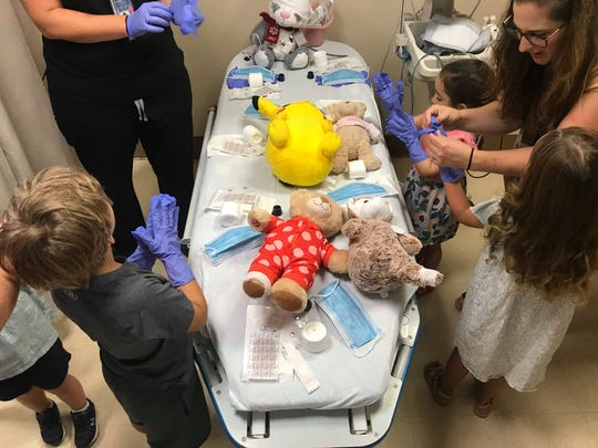 A group of young kids visited the emergency room to learn about all its components as part of MidHudson Regional's teddy bear clinic on Tuesday, Aug. 6, 2019.
