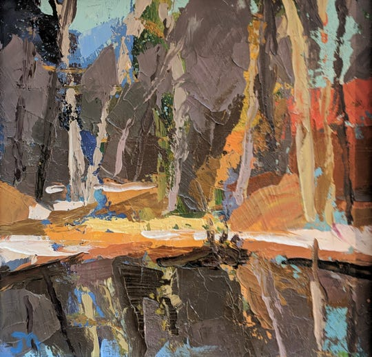"""The work of artist John McGiff is included in the """"Small Works Show"""" at Arts Mid-Hudson in Poughkeepsie."""