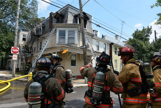 Fire crews quickly contained a working structure fire at the corner of N. Queen Street and Chestnut Street, Tuesday, August 6, 2019.John A. Pavoncello photo