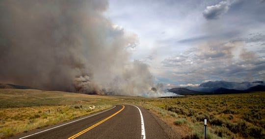 The Corta Fire on August 5, is approximately 15,000 acres and is located south of Jiggs, NV and Harrison Pass Road.