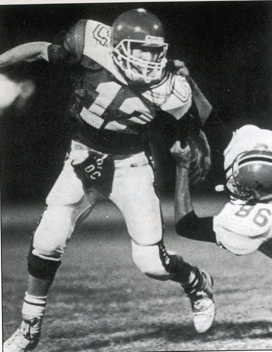 Chad McConnell keyed the O'Gorman offense as quarterback and was later drafted by the Philadelphia Phillies for baseball.