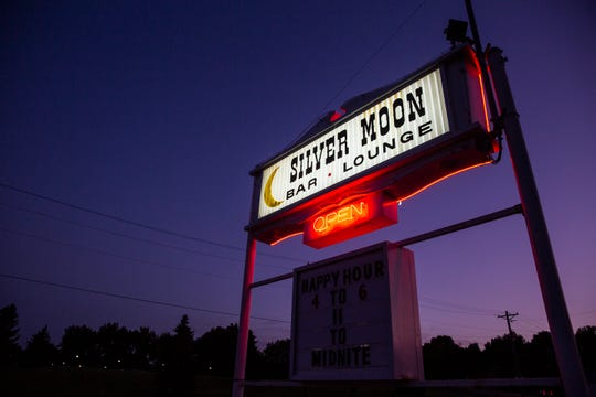 The Silver Moon bar sits across from Falls Park, Monday, Aug. 5.