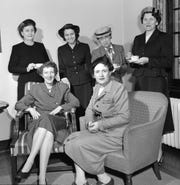 Author Billie Davis, standing, second from left, April 1953.