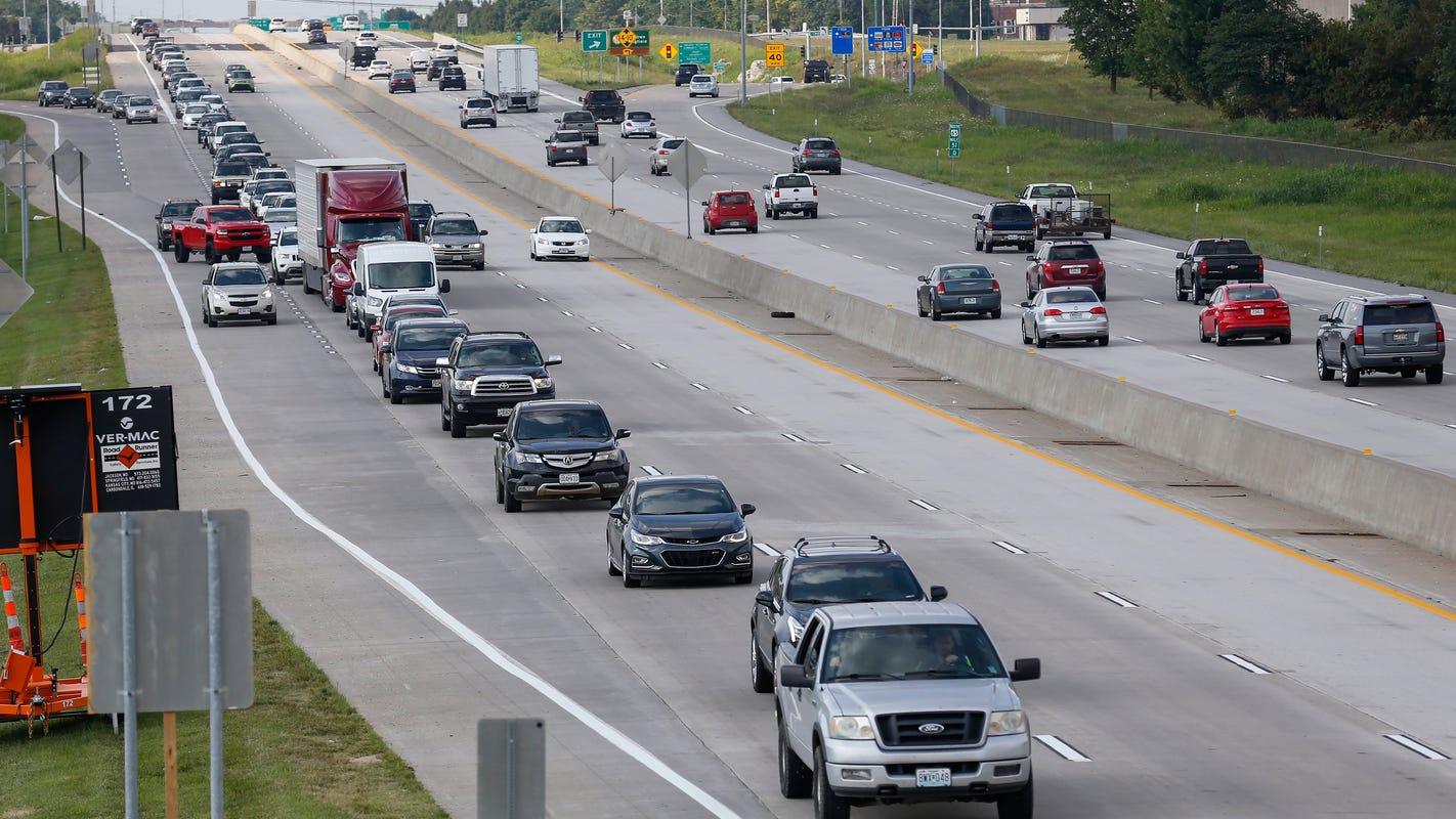Northbound lanes on US 65 closing Sept  6