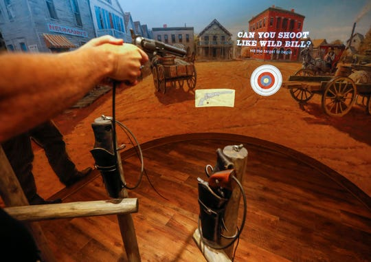 Visitors to the History Museum on the Square can test their shooting skills to see if they match up with Wild Bill Hickok's. The museum is located at 154 Park Central Square and will have its grand opening on Thursday, Aug. 8, 2019.