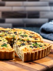 Vidalia Onion and Mushroom Quiche gets extra punch from Gruyère Cheese and homemade crust.