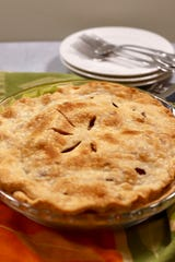 Using a refrigerated prepared crusts makes this pear pie easy.