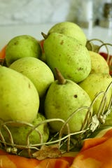 Use pears that are hard or firm or slightly underripe pears in a pie.