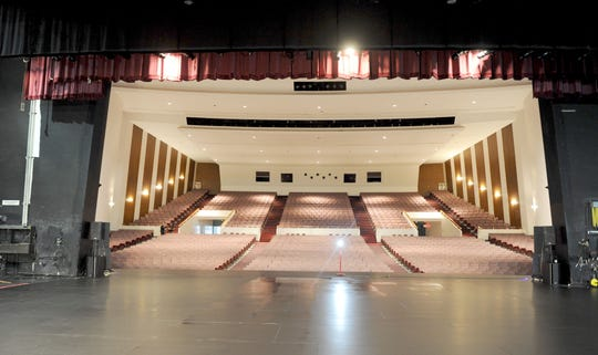The main auditorium of the Oxnard Performing Arts and Convention Center holds 1,604 seats.