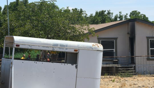 Visalia and Tulare County firefighters were called to a mobile home fire on Walnut Avenue on Tuesday, Aug. 6, 2019