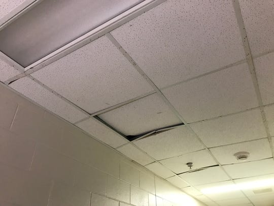 Structural issues at the Marathon County Jail have impacted the ceilings.