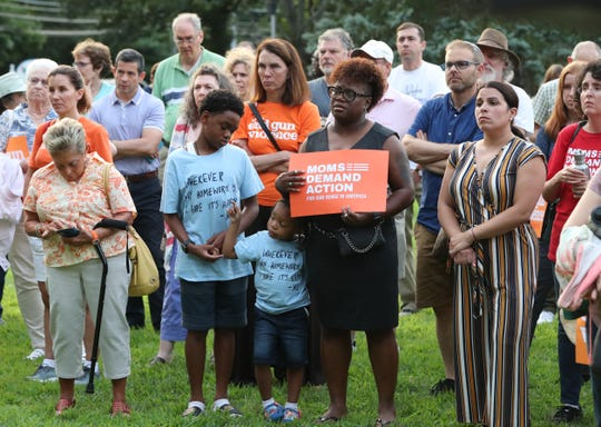 A vigil at the First Baptist Church of White Plains Aug. 5, 2019. The vigil was held for the victims of the recent gun violence in the country.