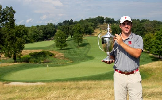 Chris Gotterup, a rising junior at Rutgers, closed out the 117th Met Amateur at Hudson National with a 7-and-5 victory.