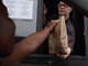 New Journal Reporter Marina Affo orders Impossible Whoppers on the first day the plant-based burger is available at the Burger King on N. Dupont Parkway in News Castle, Monday, August 5.