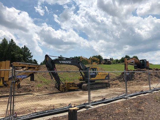 Construction is underway next to the Costco at the Christiana Mall. The wholesale warehouse is adding a gas station.