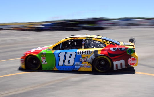Kyle Busch drives the No. 18 Toyota.
