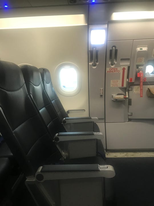 Travelers on Spirit Airlines, like other carriers, can reserve the exit row for a fee for extra legroom.
