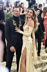 Tom Brady and Gisele Bundchen attend the Heavenly Bodies: Fashion & The Catholic Imagination Costume Institute Gala at The Metropolitan Museum of Art on May 7, 2018 in New York City.