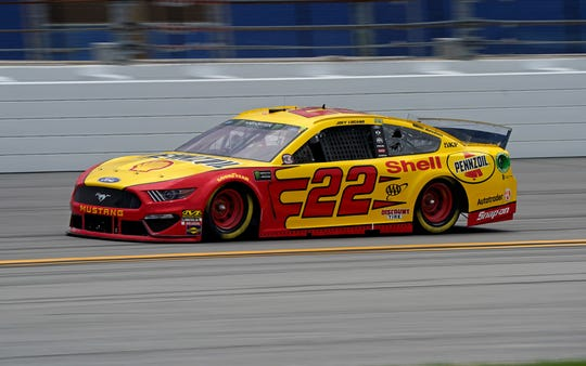 Joey Logano drives the No. 22 Ford.
