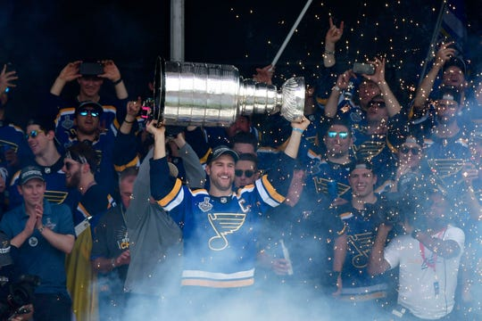 The Stanley Cup champion St. Louis Blues will play the Washington Capitals on opening night on Oct. 2.