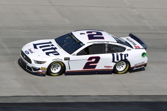 Brad Keselowski drives the No. 2 Ford.