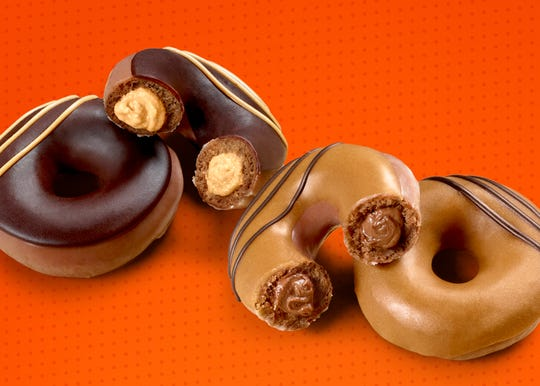 Krispy Kreme launched two Reese's filled doughnuts on August 5.