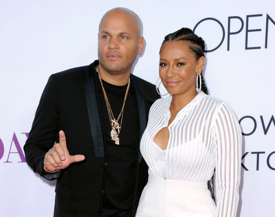 Mel B and then-husband Stephen Belafonte in Los Angeles in 2016.