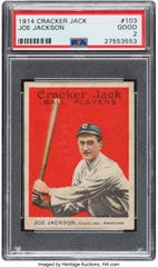 1914 Card Cracker Jack Joe Jackson.