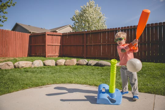 Get future sports fans into the game with these fun backyard toys.