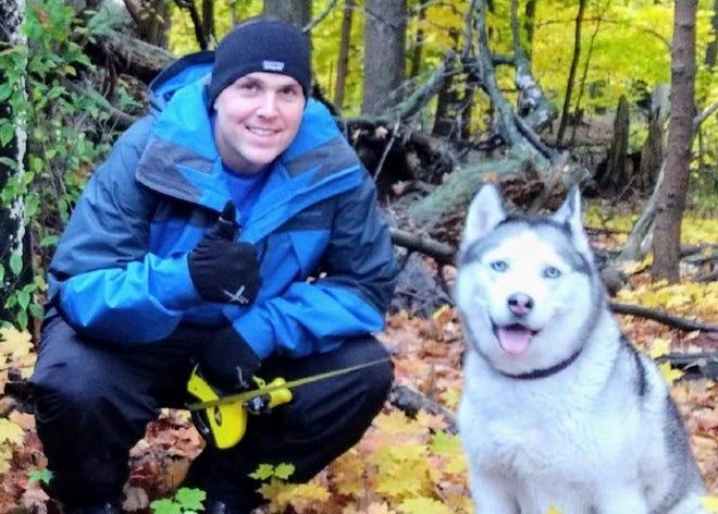 Steven Donovan and his dog, Angel.
