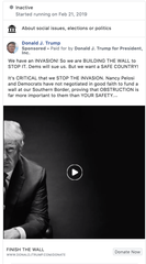 One of the Facebook ads run by President Donald Trump's campaign in 2019.